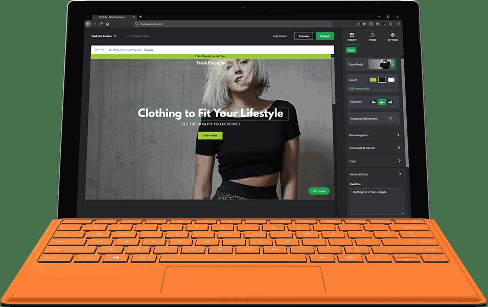 Laptop-Website-Builder